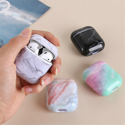 Hard PC Bag Shell Marble Pattern Protective Case Cover For Apple AirPods 1 2