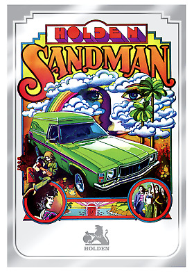Holden Sandman Silver Poster 35 grams 99.99% Silver 170mmx250mm LIMITED ED 1974
