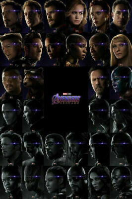 Avengers Endgame Hot Superheroes Movie All Characters Print Art Silk Poster