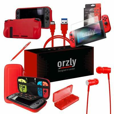 Nintendo Switch Accessories Bundle Carry Case| Screen Protector|Charging Cable
