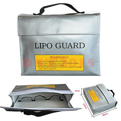 Large LiPo Safe Battery Guard Charging Protection Bag Fireproof 240X65X180mm