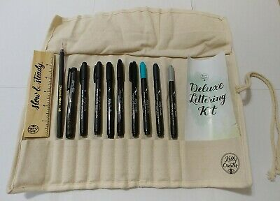 Kelly Creates Deluxe Lettering Pen Kit 13 Pieces Set New~Calligraphy Art Pen Set