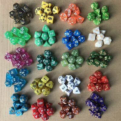 140PCS 20 Set Dungeons & Dragons MTG Polyhedral Game Dice Six-Color DND RPG Dice