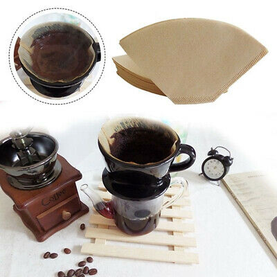 100Pcs Coffee Paper Filter for Coffee Hand-poured Coffee Filter Drip 2-4 Cup