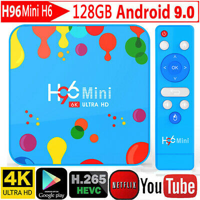 H96 Mini H6 Max 6K H.265 TV Box Android 9.0 4GB+128GB Quad Core WiFi Set Top Box