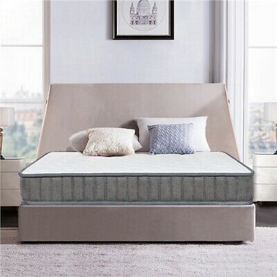 4ft6 Double Mattress Pocket Sprung Memory Foam Tencel Fabric Orthopedic Mattress