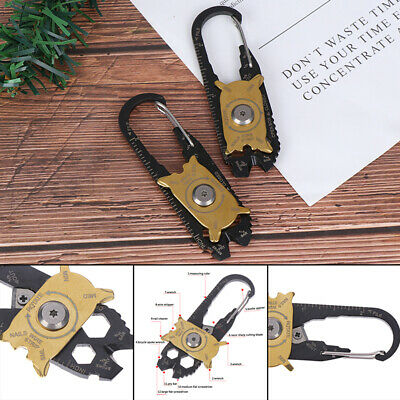Multi Tool Gadget Portable EDC Portable Outdoor Camping hiking Key Ring Too TRFF