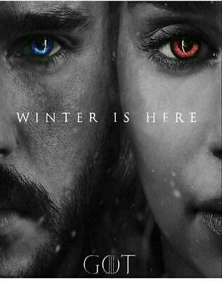 238796 Game of Thrones 7 Jon Snow Daenerys WALL PRINT POSTER UK