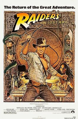 232314 Raiders Of The Lost Ark 1981 Movie Rerelease 1982 Wall Print Poster Au