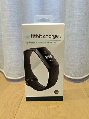 New Fitbit - FB410GMBK - Charge 3 Health & Fitness Tracker - Black/Graphite