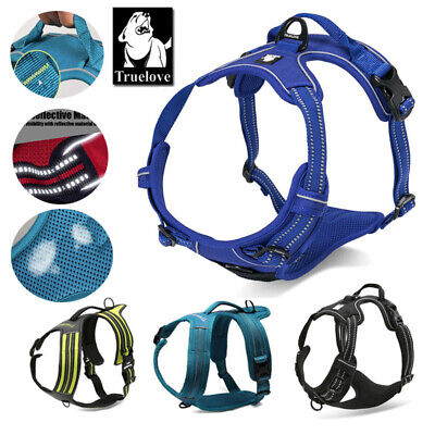 Genuine Truelove No-Pull Strong Dog Harness Reflective XS S M L XL 5 Colours