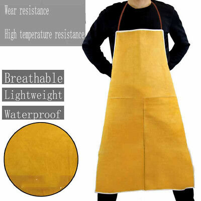 1 Cow Leather Welder Protective Aprons Welding Heat Insulation Apron Blacksmith