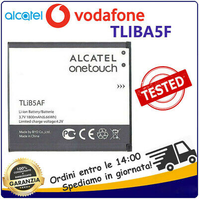 ALCATEL BATTERIA RICAMBIO LITIO  TLIB5AF 1800mAh PER OT-997 OT-C5 POP