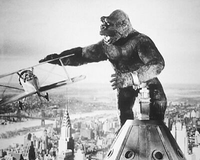 235856 King Kong atop of Empire State Building New York plane PRINT POSTER AU