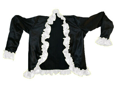 WHITE Girls Ruffle Jacket/ Coat Satin Fabric Party/ Casual Wear with Lining