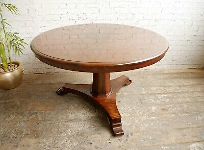 VGC Antique Victorian Mahogany Pedestal Tilt Top Breakfast Kitchen Dining Table