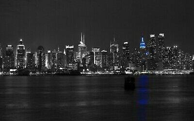 New York Skyline At Night Black White Wall Home Decor
