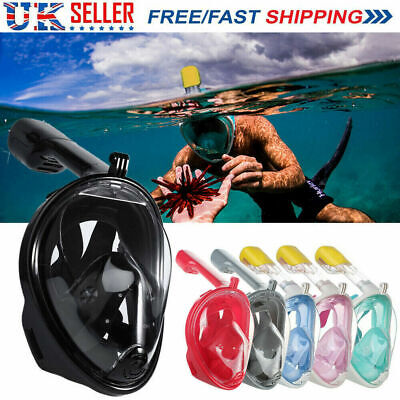 2019 Full Face Snorkel Scuba Diving Mask Surface Swimming Breath Pipe for GoPro