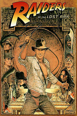 242017 Raiders Of The Lost Ark Movie Wall Print Poster Au