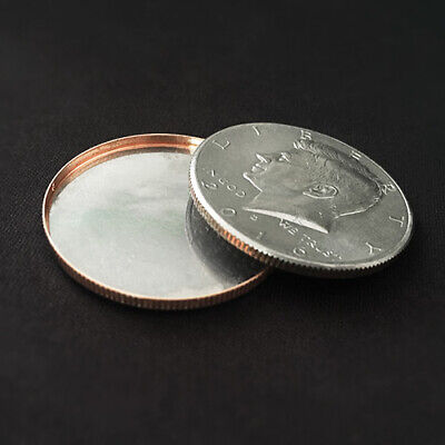 Magnetic Expanded Shell (Half Dollar) Coin Magic Tricks Illusions Close up Magic