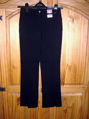 Girls black bootcut school trousers uniform age 9-10 years new