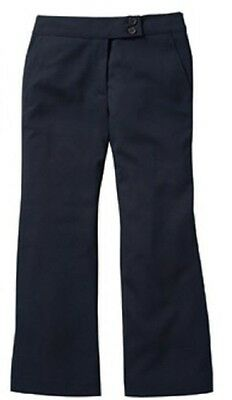Girls navy blue bootcut trousers age 4 years with adjustable waist new