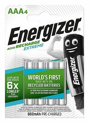 4 piles AAA ENERGIZER rechargeables Extreme HR03 800 mAh