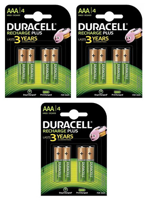 OFFRE EXCEPTIONNELLE 12 piles AAA DURACELL rechargeables HR03 750 mAh