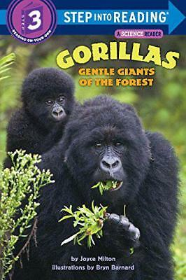 Gorillas: Gentle Giants of the Forest (Step into Reading) by Milton, Joyce, NEW