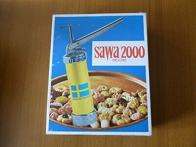 Vintage New SAWA 2000 Deluxe Cookie/Pastry Press w/Templates Sweden Made