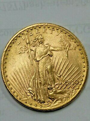 Saint Gaudens $20 Gold Coin 1910-D