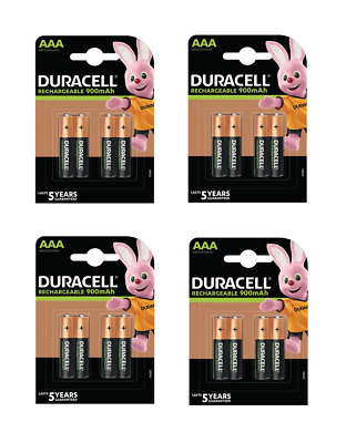 16 piles AAA DURACELL rechargeables HR03 900 mAh