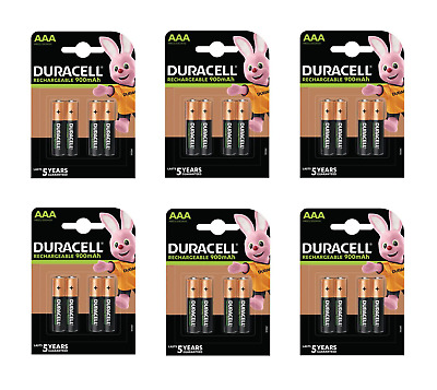 24 piles AAA DURACELL rechargeables HR03 900 mAh