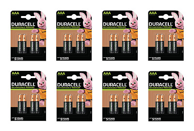 32 piles AAA DURACELL rechargeables HR03 900 mAh