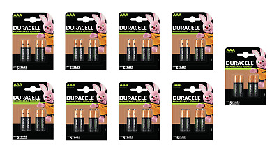 36 piles AAA DURACELL rechargeables HR03 900 mAh
