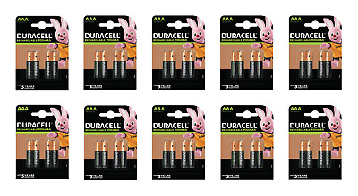40 piles AAA DURACELL rechargeables HR03 900 mAh