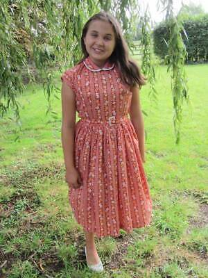 ages 12 - 14 teen vintage 40's dress floral WW2 costume Goodwood