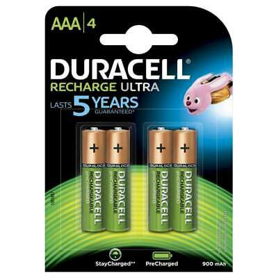 4 piles AAA DURACELL rechargeables HR03 900 mAh