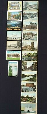US Vintage Lot of 7 Postcards and 2 Sided NY Picture Foldout w/ 22 Scenic Views