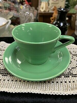 Vintage Harlequin Green After Dinner Demitasse Cup & Saucer Homer Laughlin