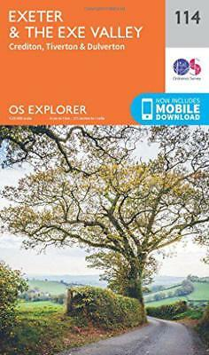 OS Explorer Map (114) Exeter and the Exe Valley by Ordnance Survey, NEW Book, FR
