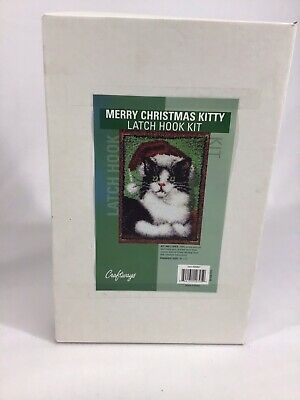 Craftways Merry Christmas Kitty Latch Hook Kit Hook Included