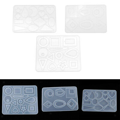 DIY SILICONE RESIN Jewelry Casting Mould Crystal Geometric