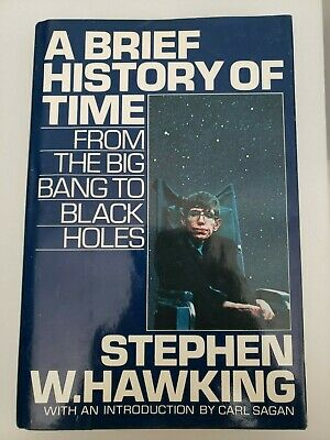 A Brief History of Time by Stephen Hawking 1988 Hardcover first edition
