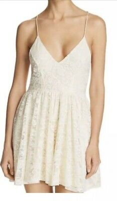 Sam Edelman NWT Cream Colored Lace Romper Size Small
