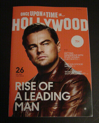 New Once Upon A Time In Hollywood Rise Of A Leading Man Premiere Promo Magazine