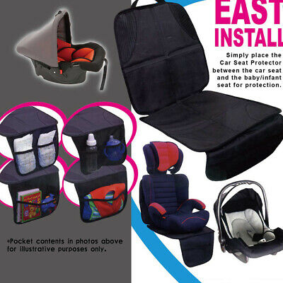 Safety Mat Cushion Cover Waterproof Car Seat Protector Non-Slip Child Black