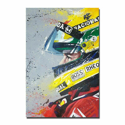 New Ayrton Senna F1 Formula Custom Poster Print Art Decor T-190
