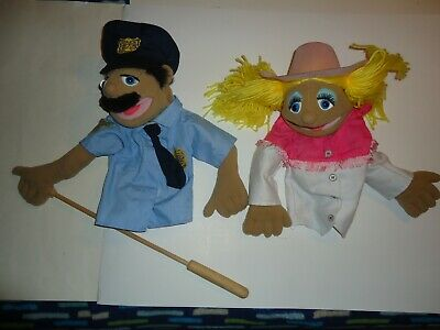 Melissa /& Doug Police Officer Puppet With Detachable Wooden Rod for Animated