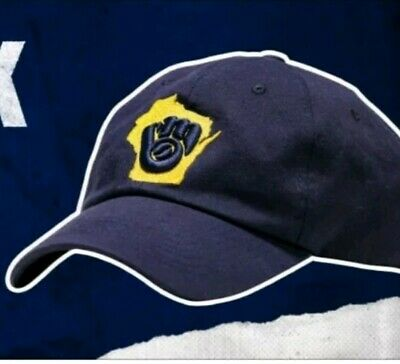 New 2019 Milwaukee Brewers Embroidered Strap-back Hat SGA August 9, 2019